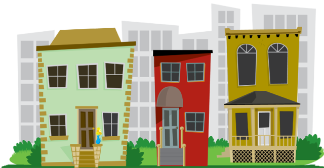 City Neighborhood Clipart.