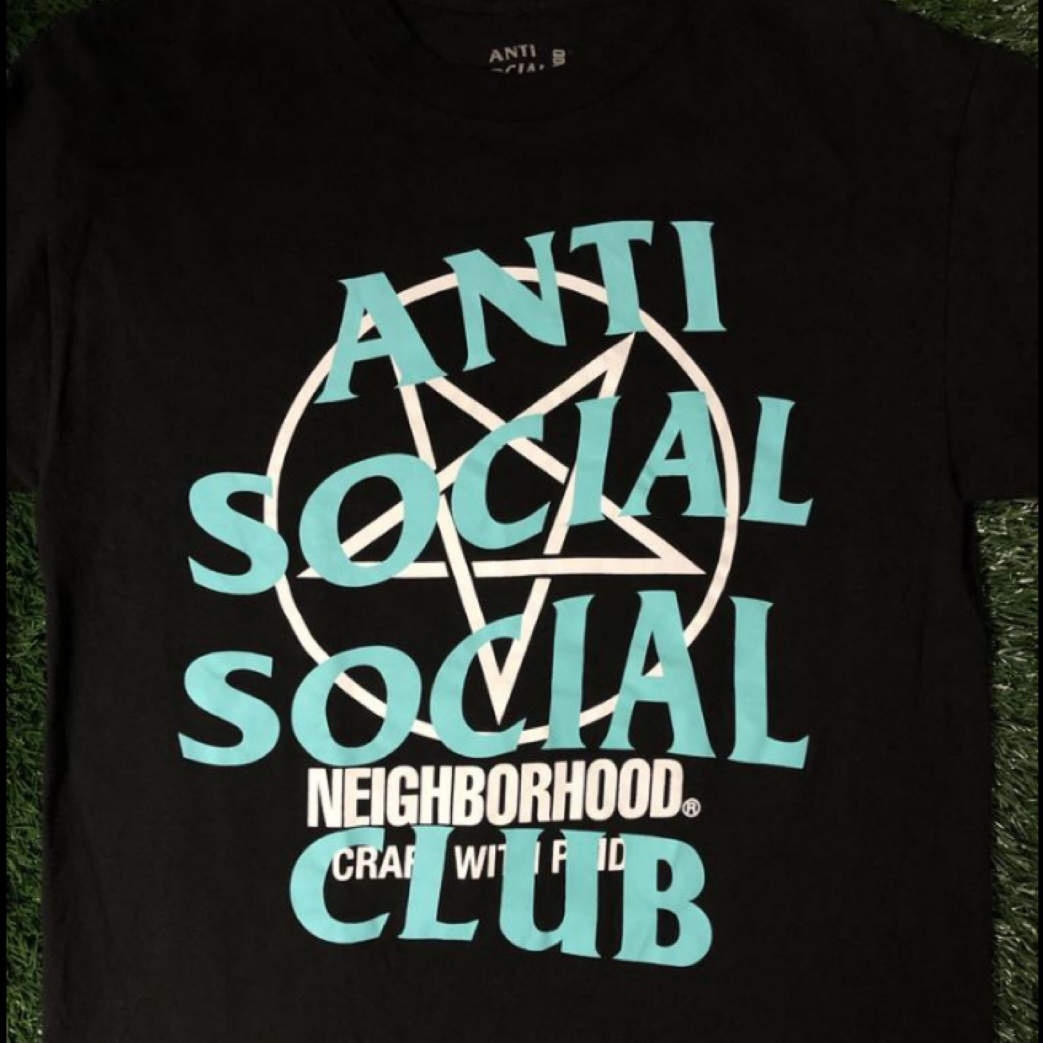 Anti Social Social Club X Neighborhood Logo Tee.