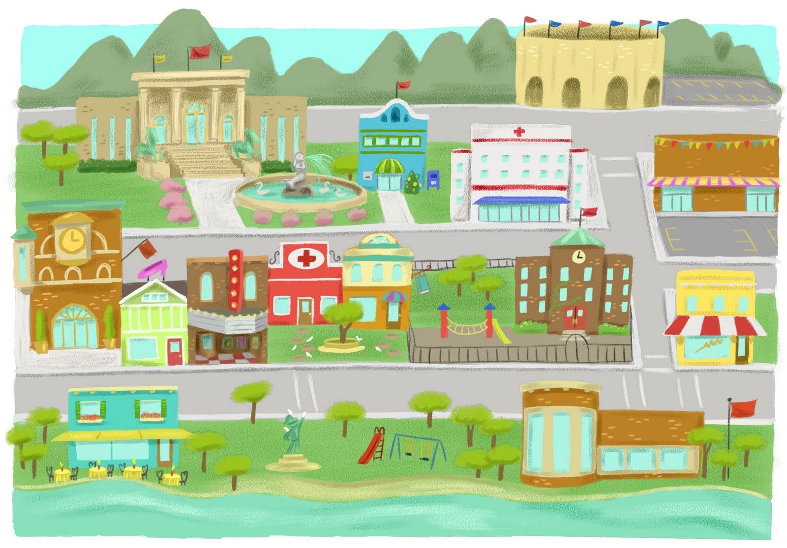 Neighborhood map clipart 6 » Clipart Portal.