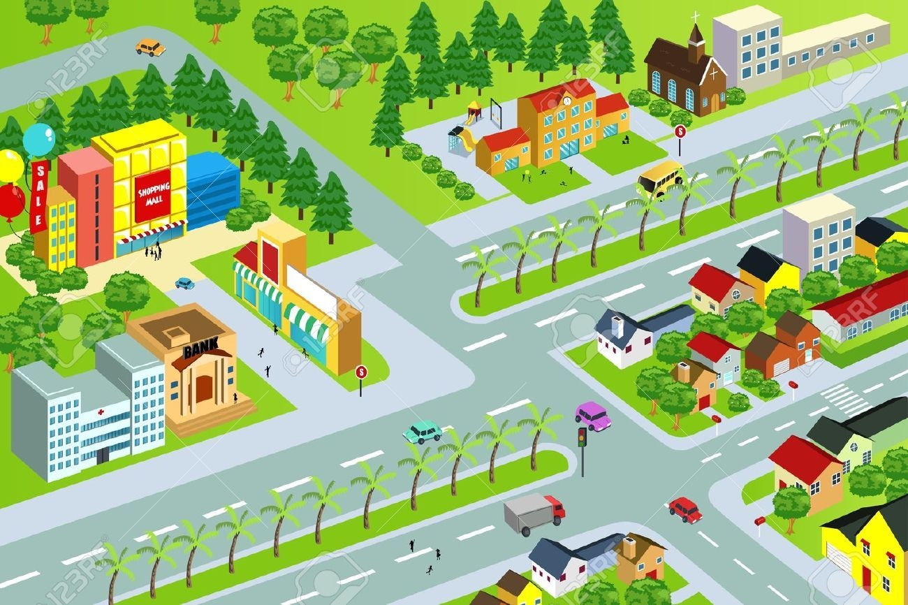 Neighborhood map clipart 2 » Clipart Portal.