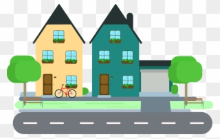 Sensational Design Neighborhood Clipart House Clip.