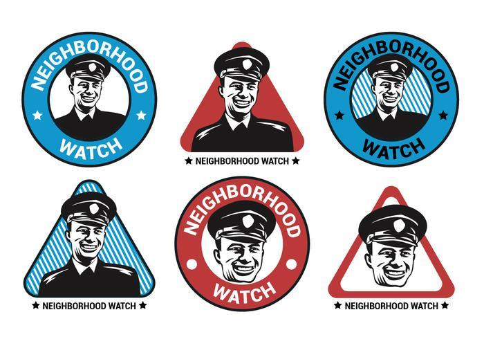 Neighborhood Watch Vector Logo Collection.