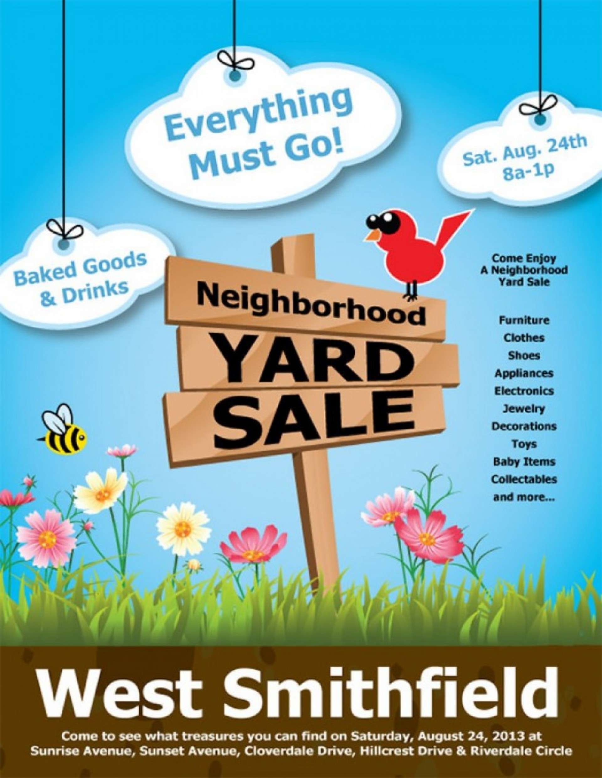 030 Template Ideas Yard Sale Flyer Free Clip Art Stupendous.