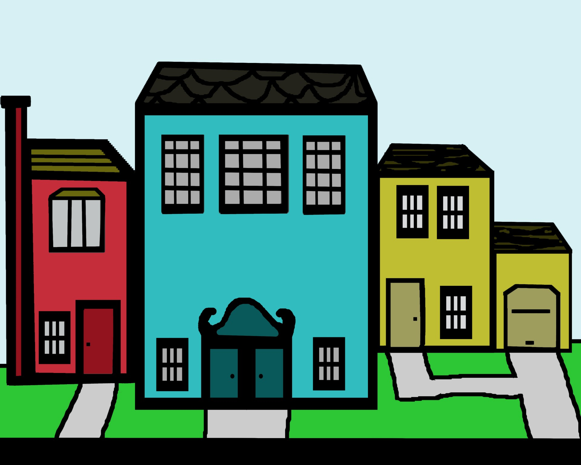 Clip Art Neighborhood Free Stock Photo.