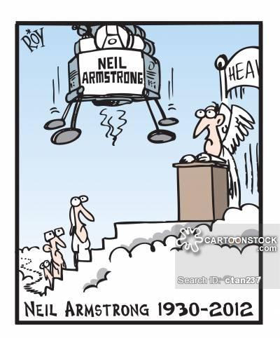 Neil Armstrong Cartoons and Comics.