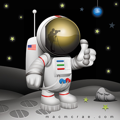 Moon Landing Hoax Cartoon.