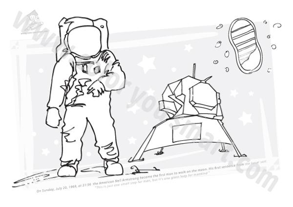 Neil Armstrong Cartoon Clipart Clipground