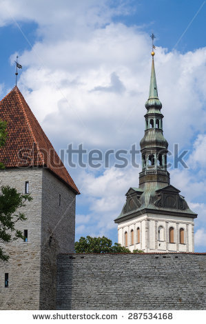 Church Estonia Niguliste Tallinn Stock Photos, Royalty.