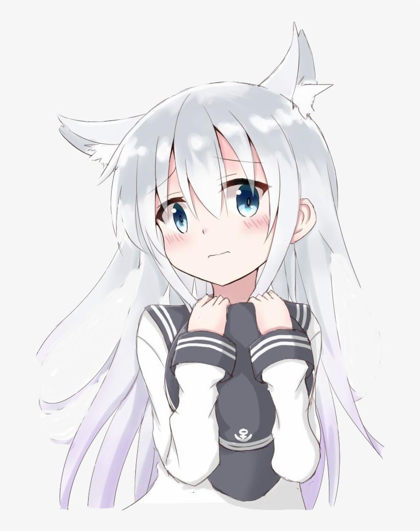Hibiki Anime Neko PNG Image.