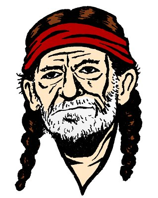 Willie Nelson Clipart.