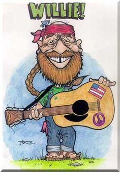 Willie nelson clipart.