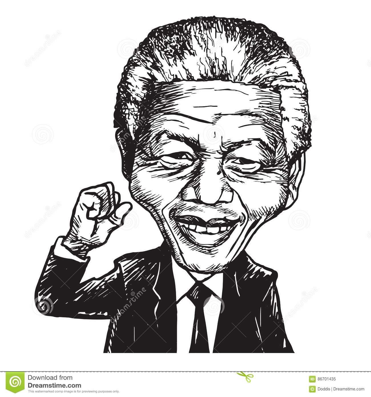 Mandela Stock Illustrations.