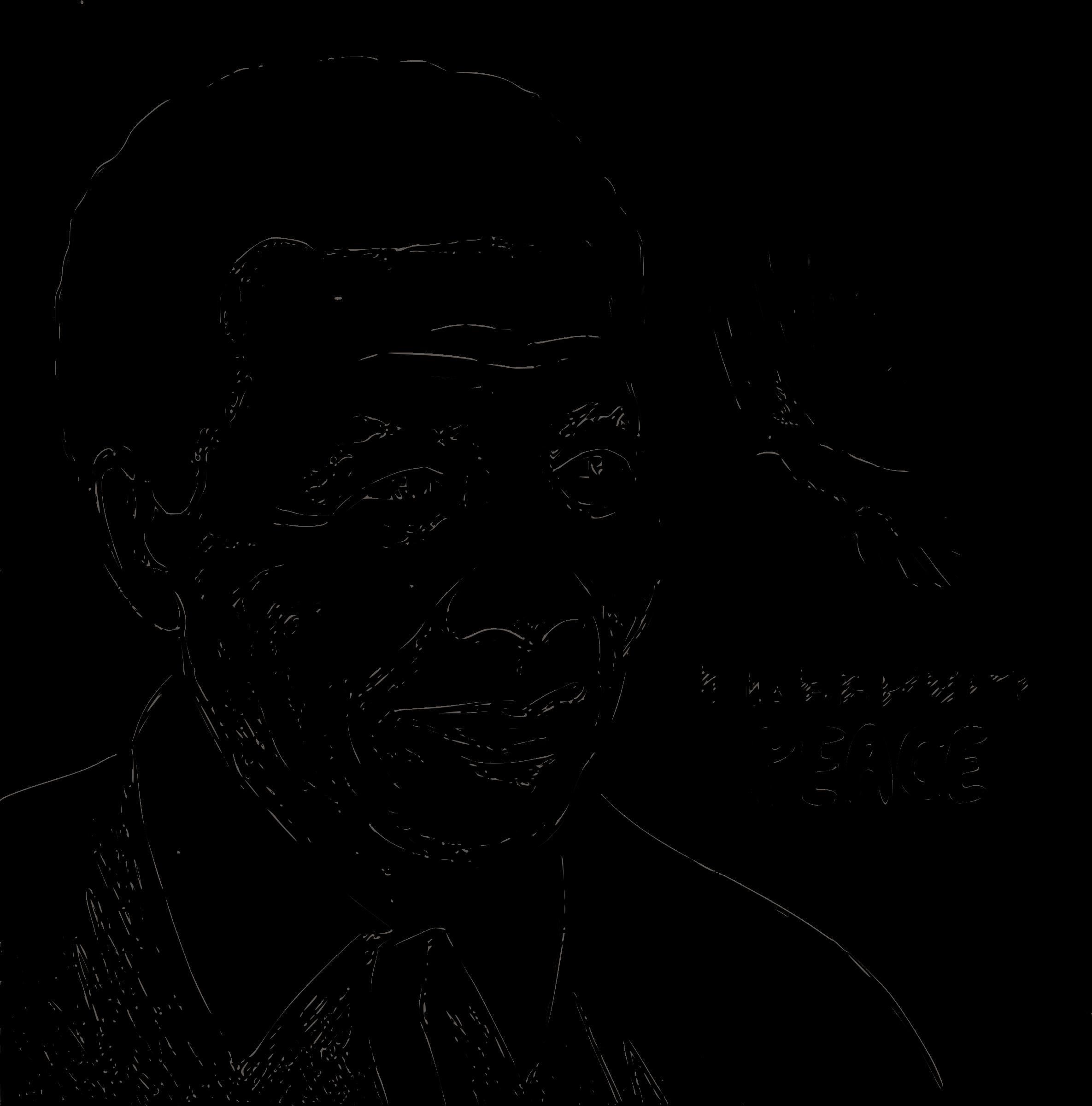 Nelson Mandela Portrait Sketch Vector Clipart.