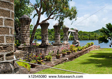 Stock Photography of Nelson's Dockyard in Antigua k12545080.