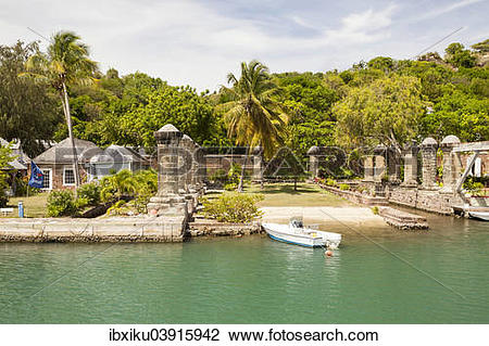 Stock Photo of Nelson's Dockyard, English Harbour, Antigua.
