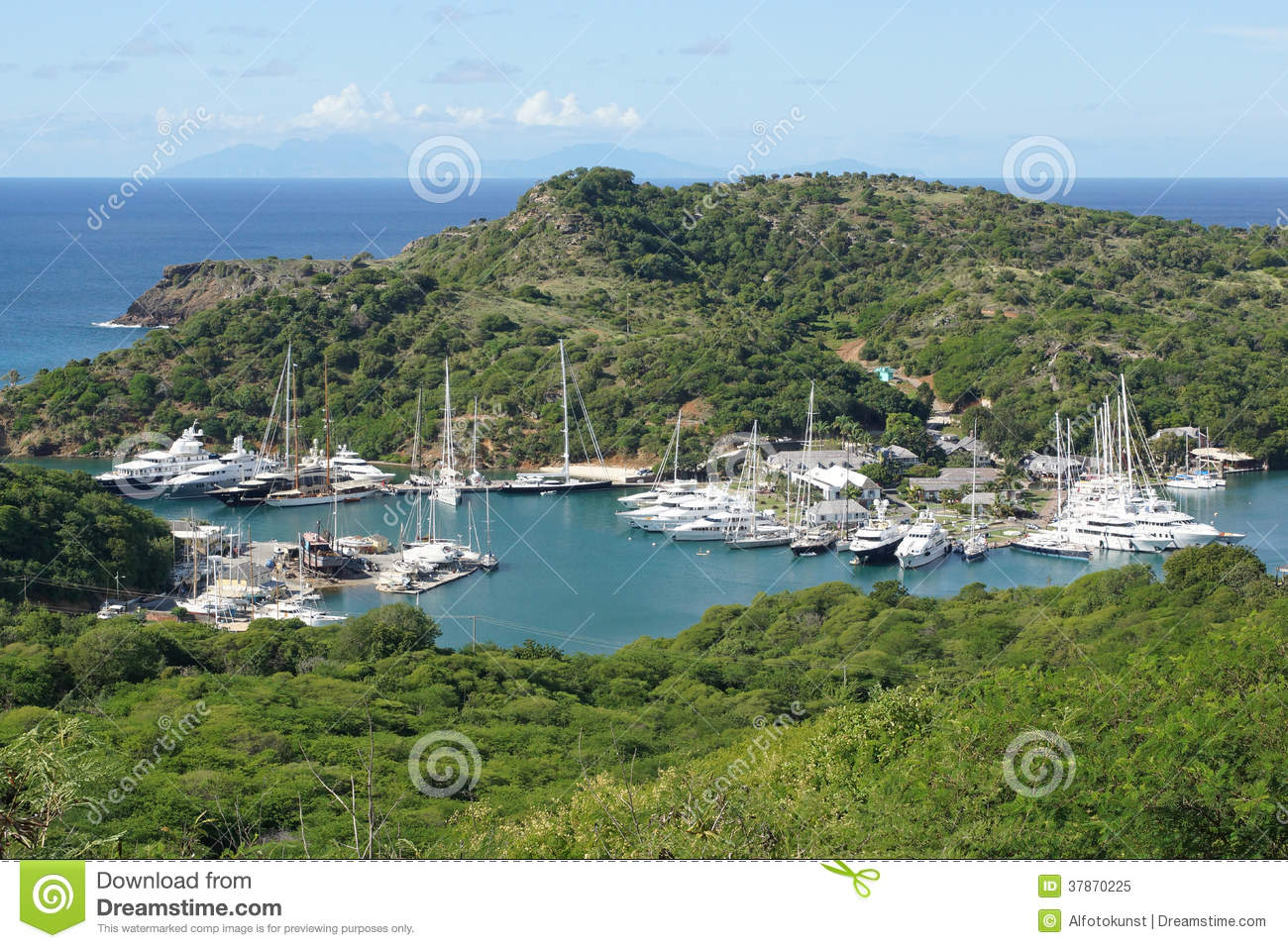 Nelsons Dockyard, Antigua And Barbuda, Caribbean Stock Photos.