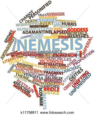 Clipart of Word cloud for Nemesis k11758911.