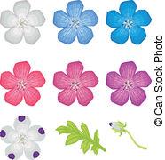 Nemophila Vector Clipart EPS Images. 2 Nemophila clip art vector.