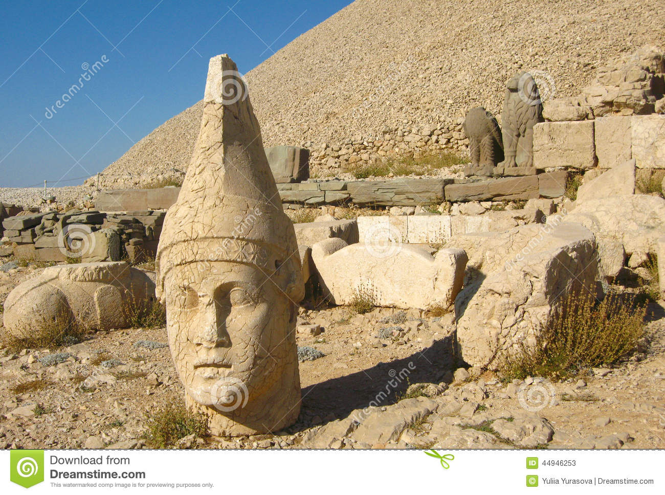 Nemrut Turkey Heads Statues Mount Nemrut Stock Photos, Images.