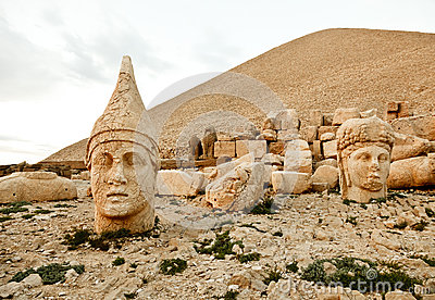 Sculptures Of The Commagene Kingdom, Nemrut Mountain Stock Image.