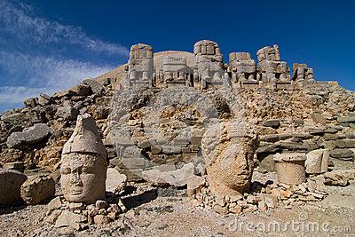 Heads Of The Statues On Mount Nemrut In Turkey, UNESCO Royalty.