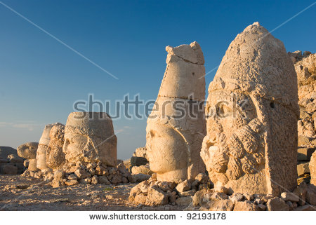 Vector Images, Illustrations and Cliparts: Nemrut Dagi in Anatolia.
