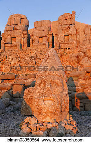 "Stock Photo of ""Head of Herakles, East Terrace, grave of Antiochus."