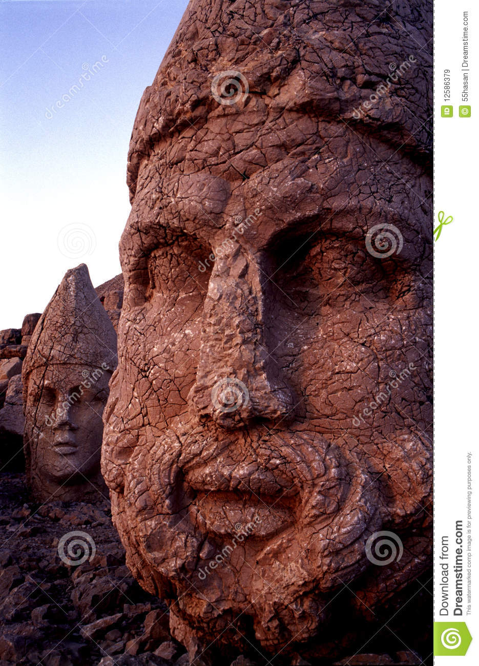 Nemrut Mountain Statue Royalty Free Stock Images.