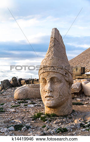 Stock Images of Heads on Nemrut Mountain k14419946.