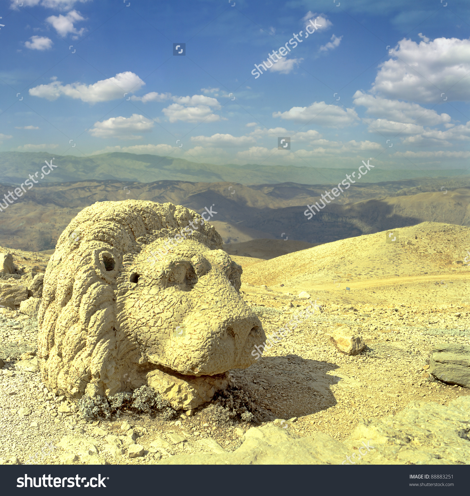 Heads Statues On Mount Nemrut Dagi Stock Photo 88883251.