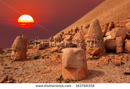 Nemrut Mountain Stock Images, Royalty.