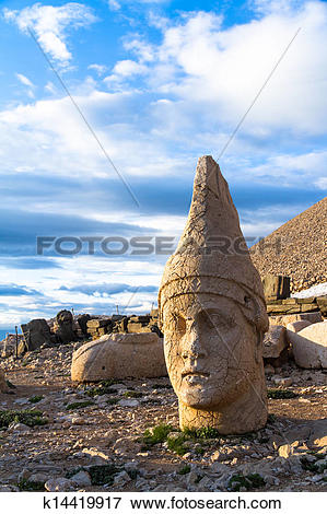 Picture of Heads on Nemrut Mountain k14419917.