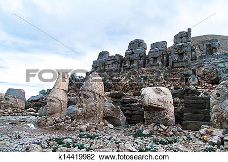 Stock Photo of Heads on Nemrut Mountain k14419982.