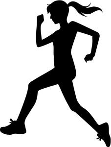 Girl Running Clipart.