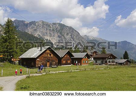 "Stock Photography of ""Nenzinger Himmel alpine village."