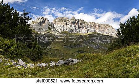 Stock Photography of Austria, Vorarlberg, Lechtal Alps.