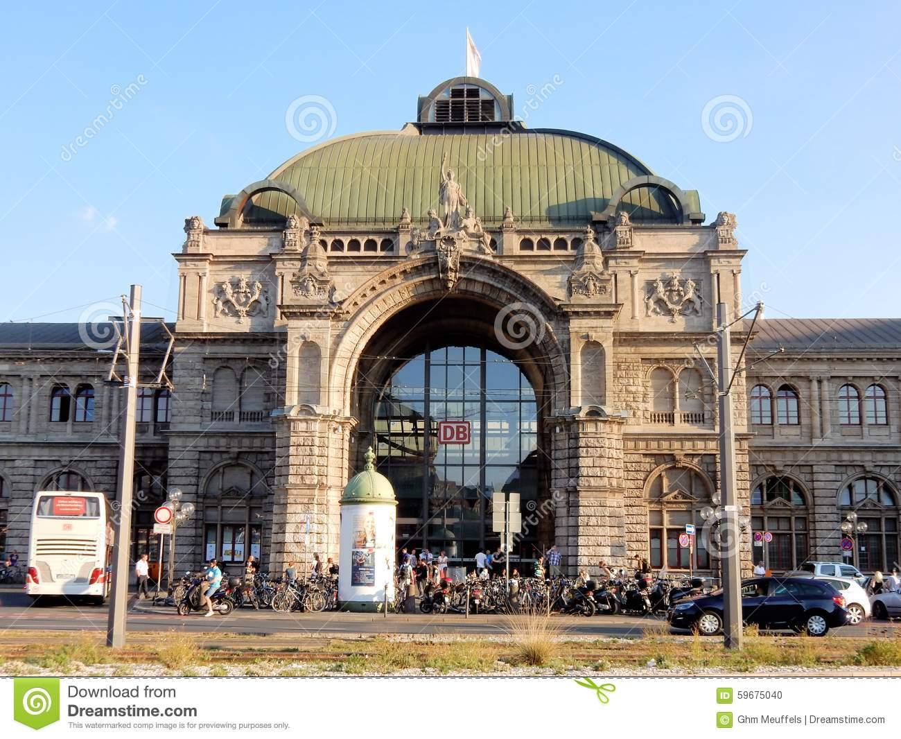 Nuremberg Central Railway Station Façade In Neo.