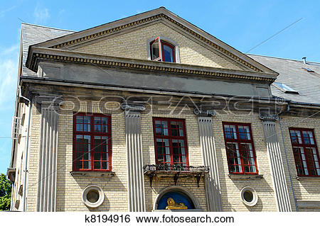 Stock Images of Palladian Neo Classical Architecture Style house.