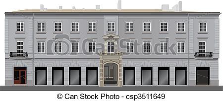 EPS Vectors of Neoclassical facade.