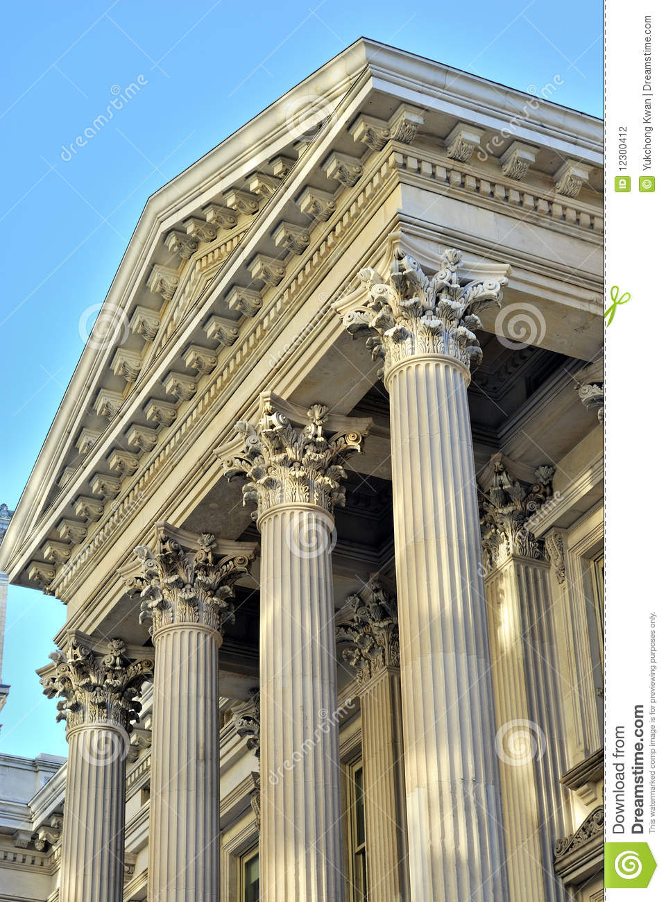 Neoclassical Architecture With Columns Stock Photography.