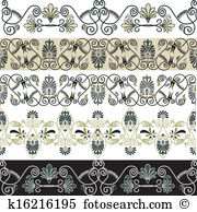 Neo classical Clip Art Vector Graphics. 12 neo classical EPS.