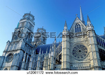 Stock Photo of church, France, Orleans, Loire Valley, Loire Castle.