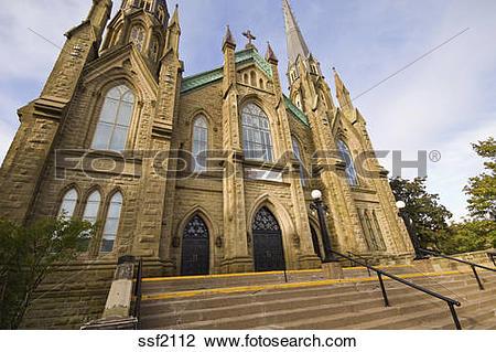 Stock Photo of Neogothic architecture of Saint Dunstans Basilica.
