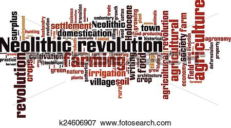 Clip Art of Neolithic revolution word cloud k24606907.