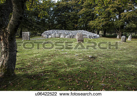 Stock Photo of Scotland, Highland, Culloden. The neolithic burial.