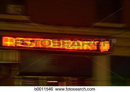 Stock Images of orange, advertising, light, dinner, neon.