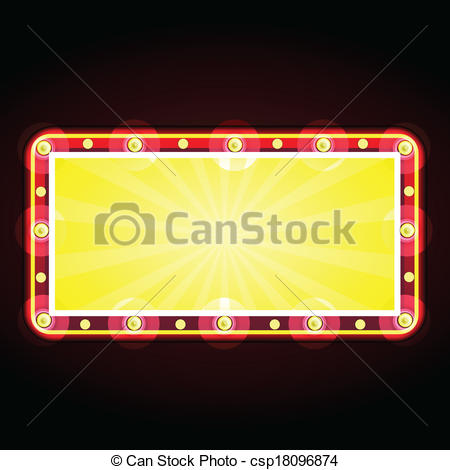 Vectors Illustration of neon sign advertising announcement.