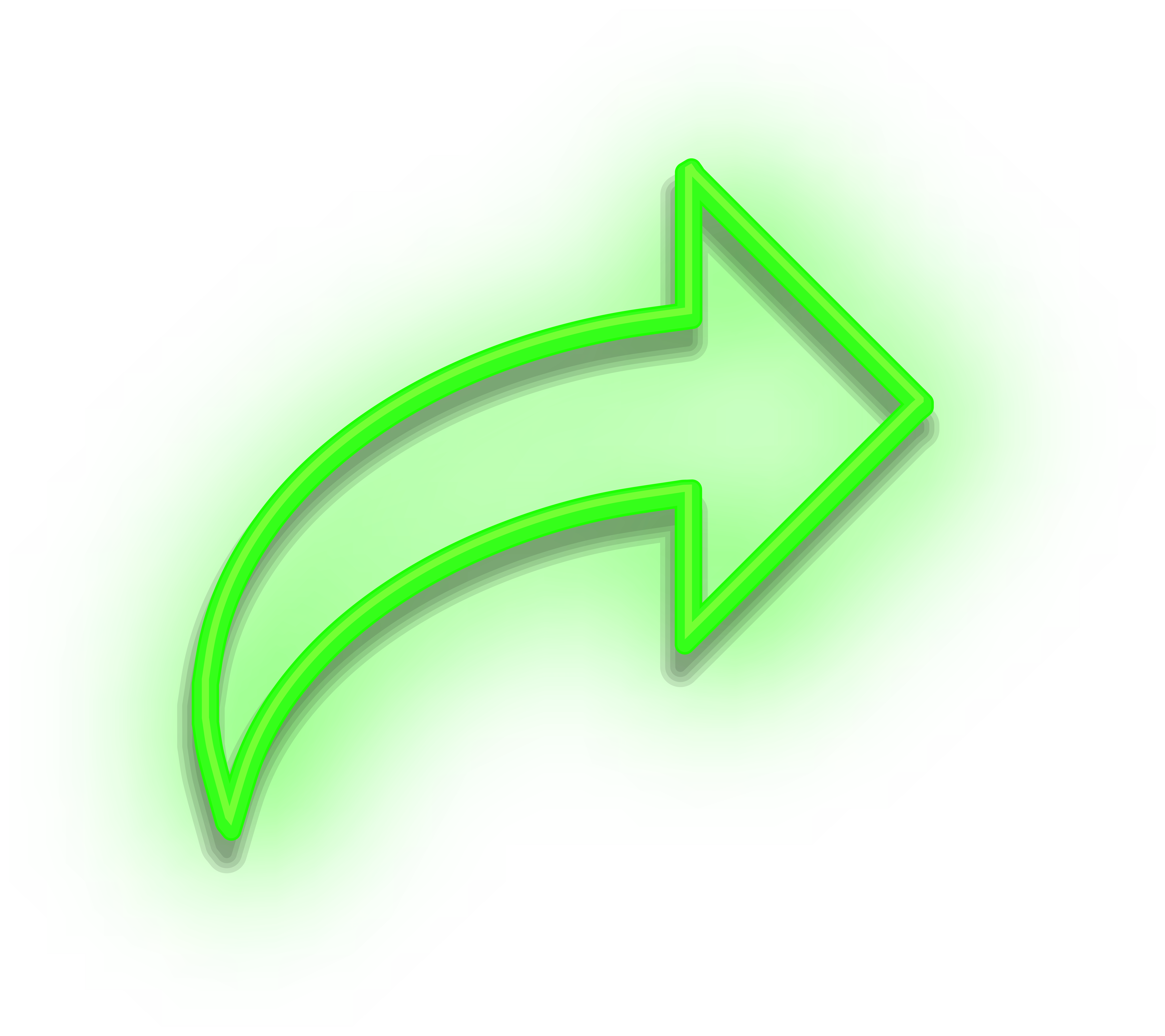 Neon Arrow Sign Green PNG Clipart.