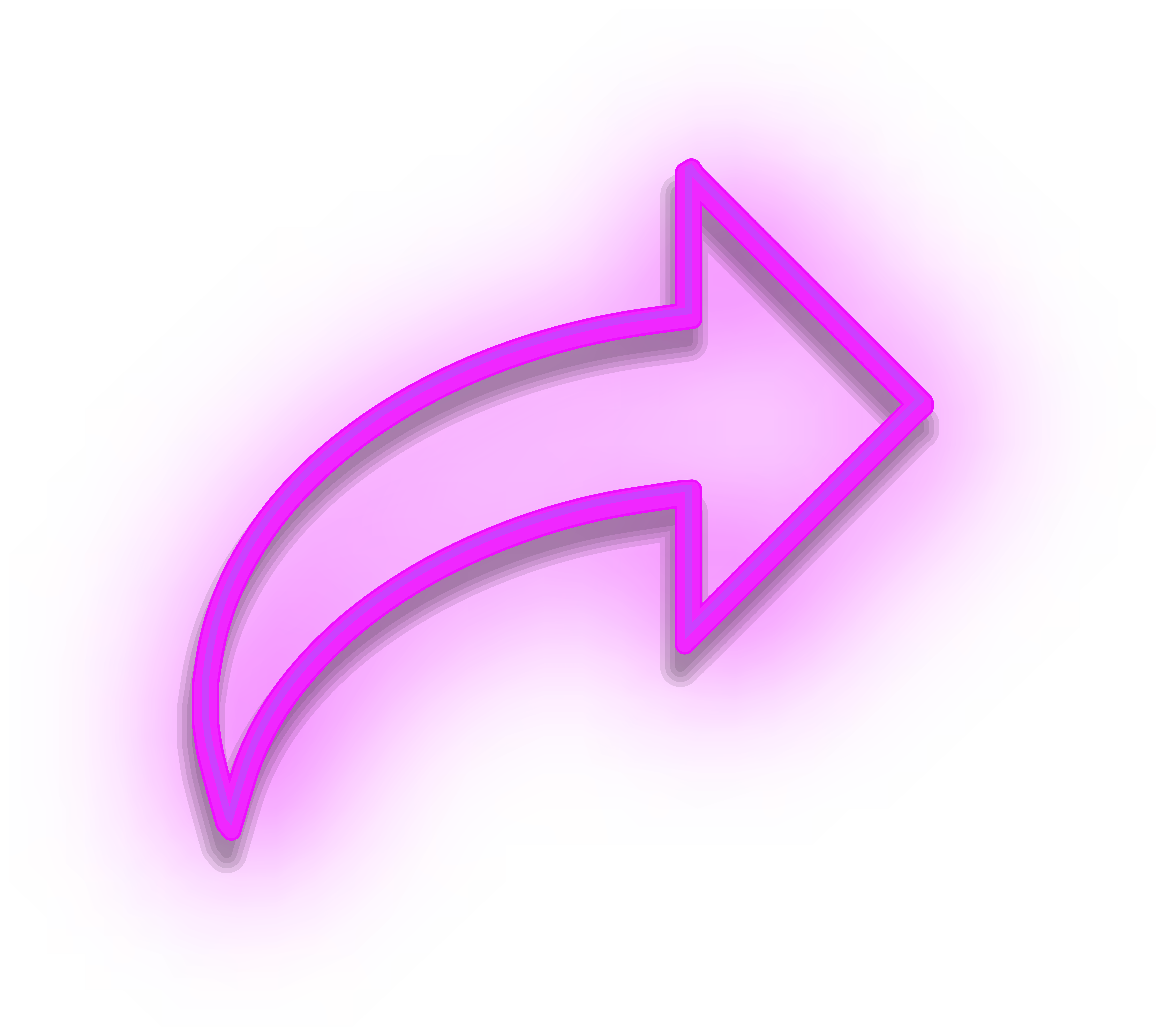 Neon Arrow Sign Purple PNG Clipart.