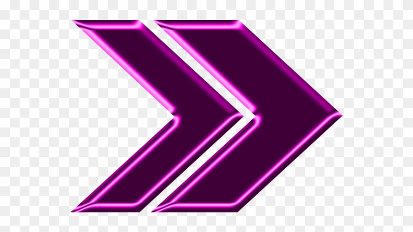 Double Arrow Magenta Neon Right.